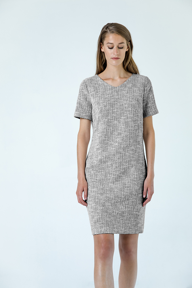 Antwerp tee dress black&white cotton
