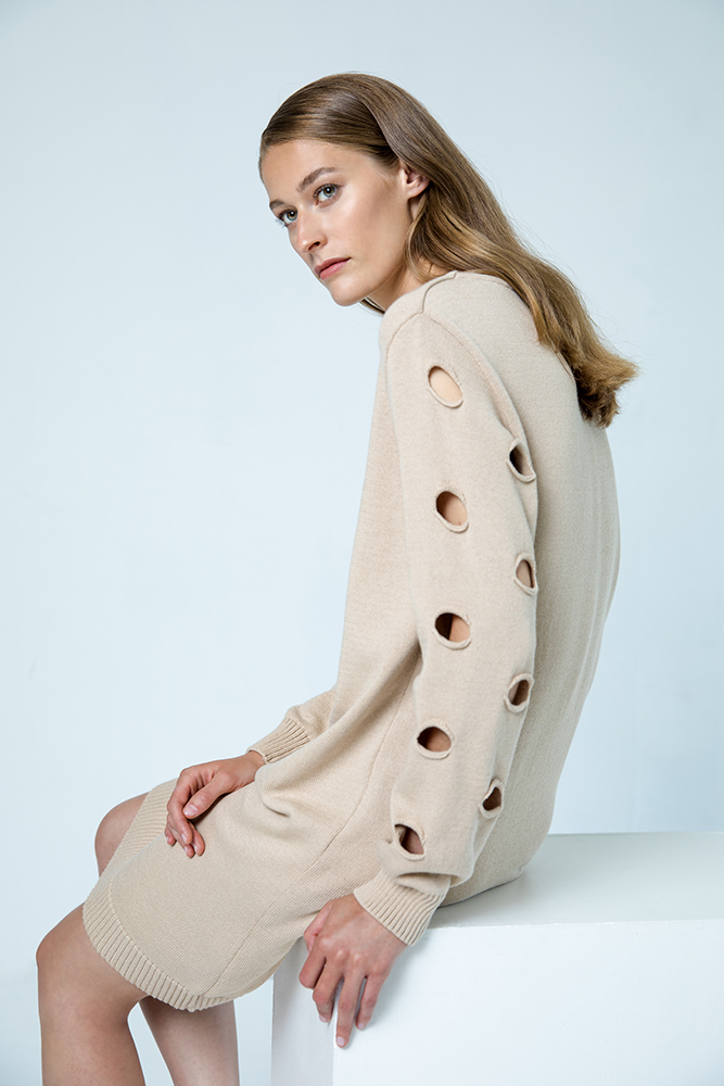 Geneve dress organic cotton beige