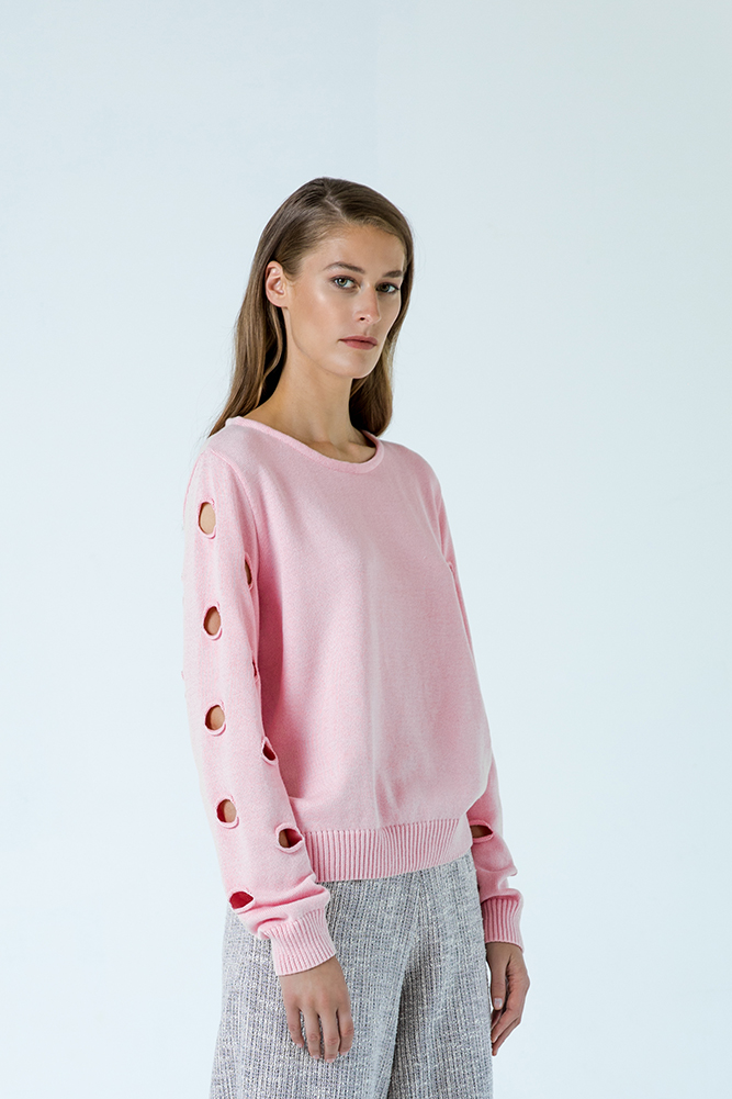 Geneve sweater organic cotton pink