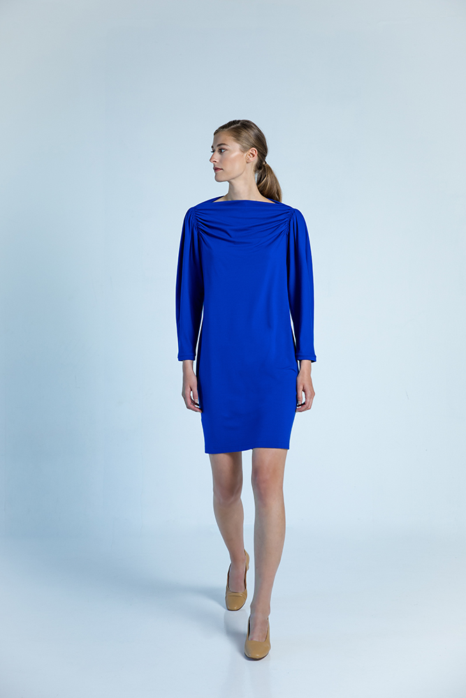 Seoul dress electric blue