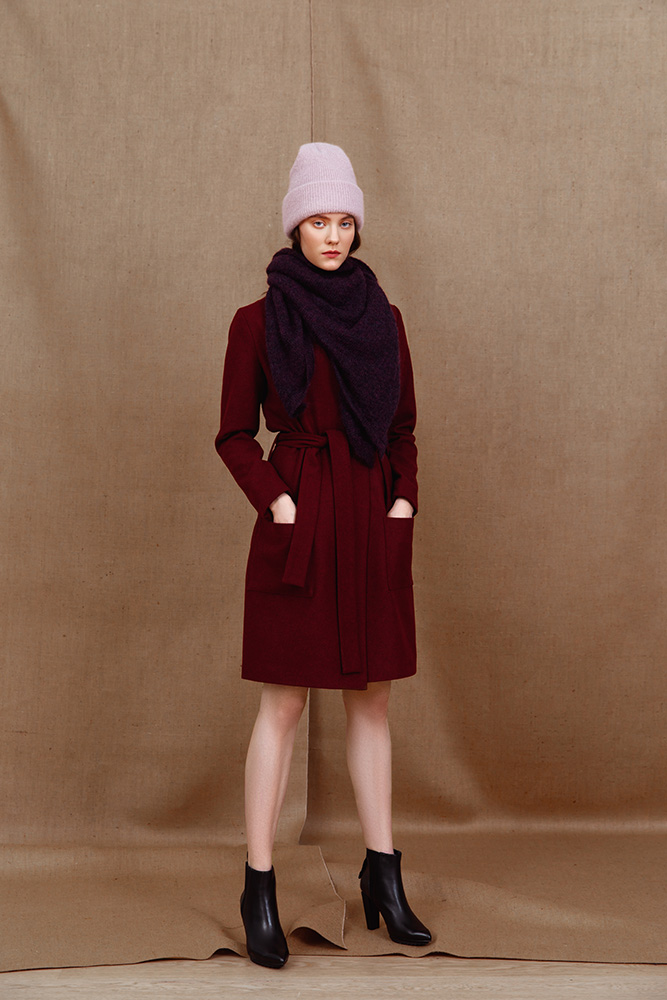 Stockholm wool coat and Mohair beanie